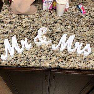 Mr & Mrs wedding